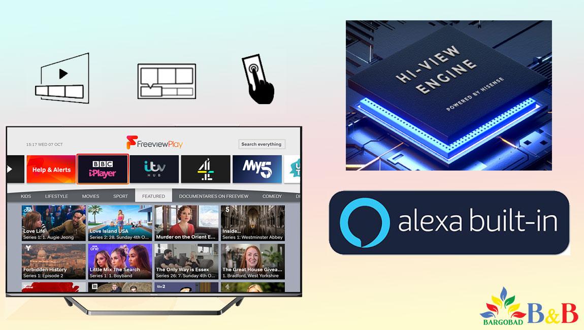امکانات هوشمند تلویزیون هایسنس U7WF