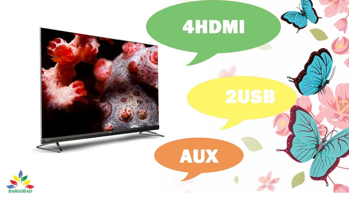 پورت های ارتباطی تلویزیون هایسنس U8WF