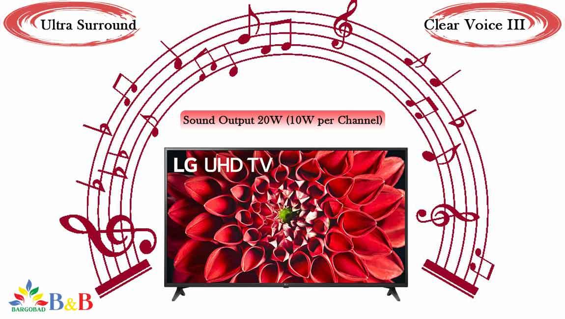 سیستم صوتی تلویزیون 55 اینچ ال جی UN711