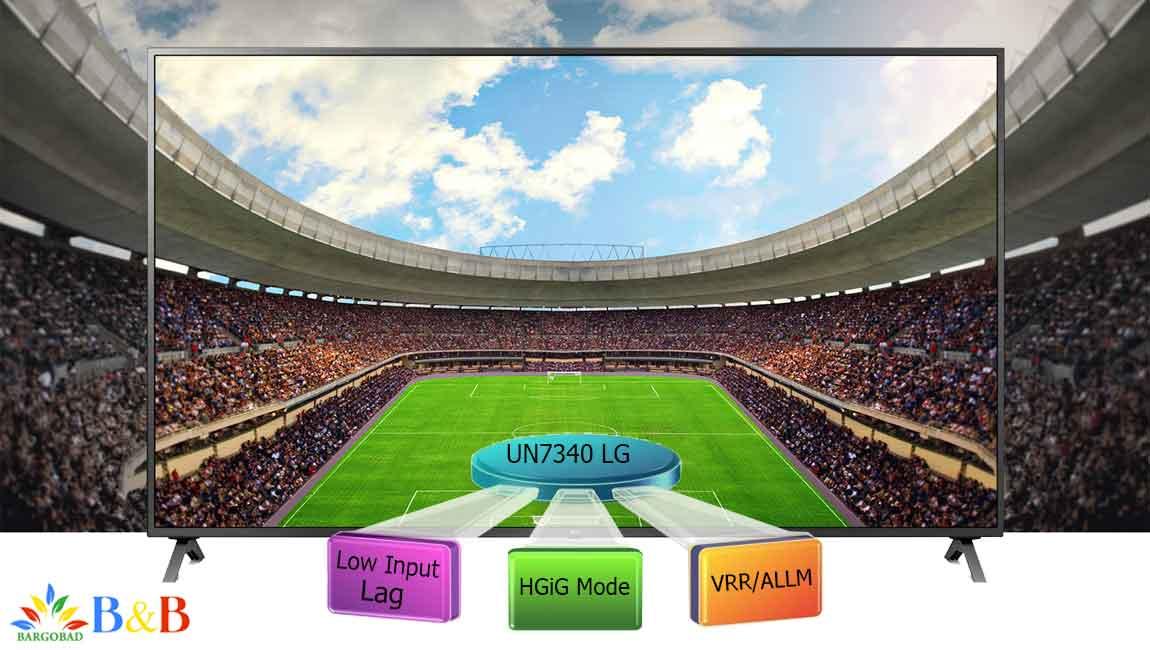 قابلیت بازی در تلویزیون ال جی UN7340