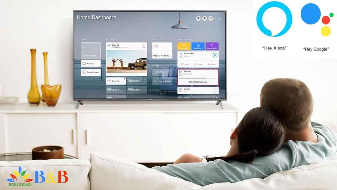 کنترل از طریق صدا تلویزیون 70 اینچ ال جی UN7380