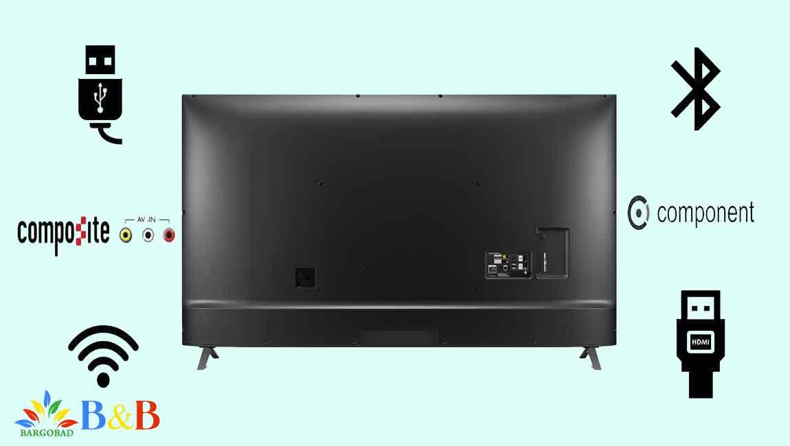 درگاه های ارتباطی تلویزیون 86 اینچ ال جی UN8080
