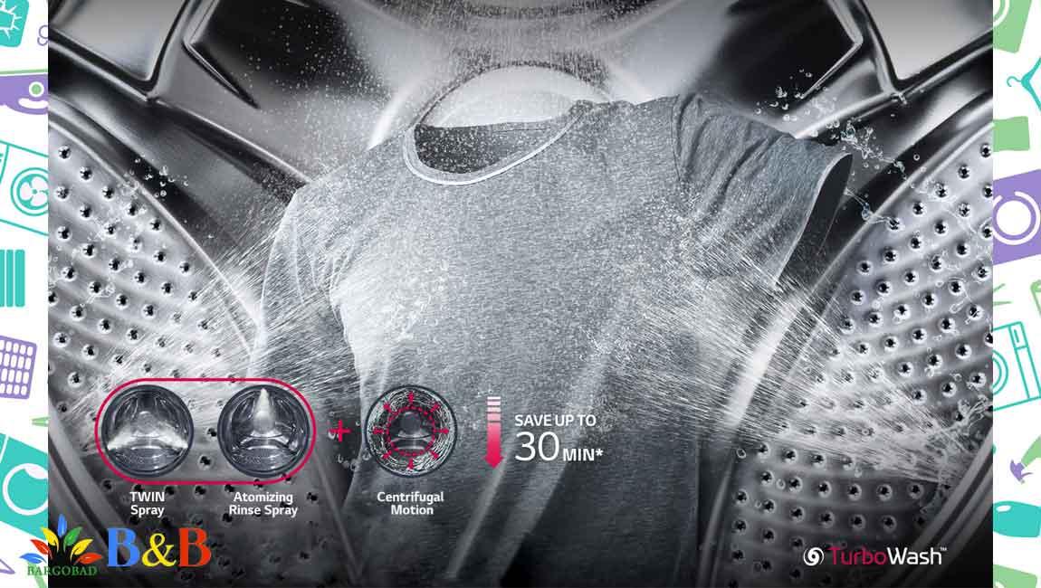 فناوری TurboWash در لباسشویی ال جی J9