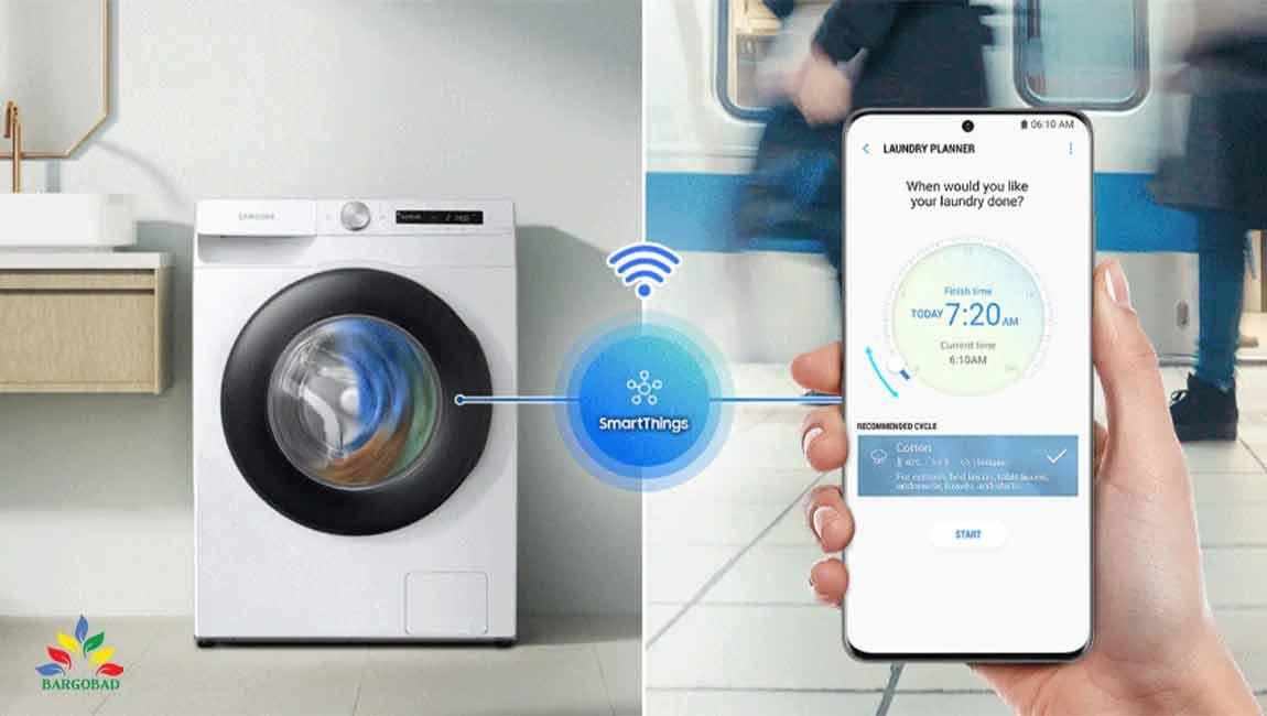 اتصال به گوشی در لباسشویی سامسونگ WW90T
