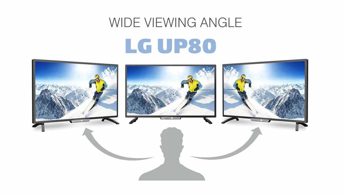 زاویه ی دید گسترده در تلویزیون ال جی UP8000