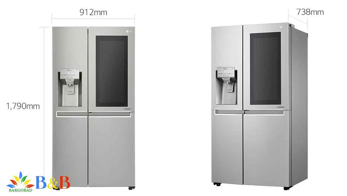 طراحی یخچال ال جی 257