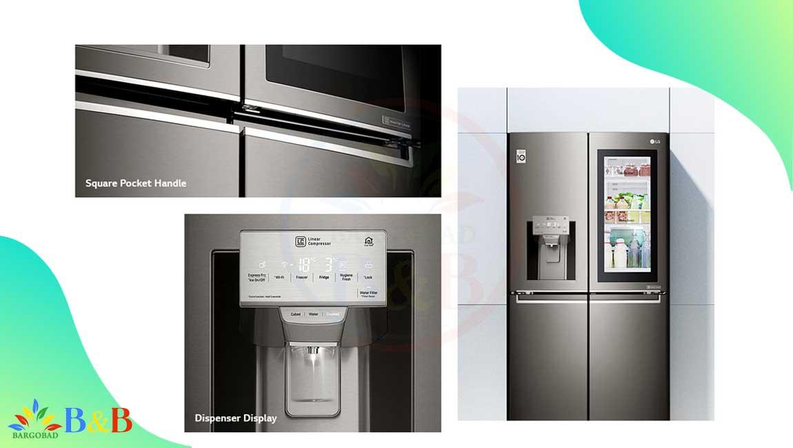 طراحی یخچال ساید اینستاویو ال جی X274