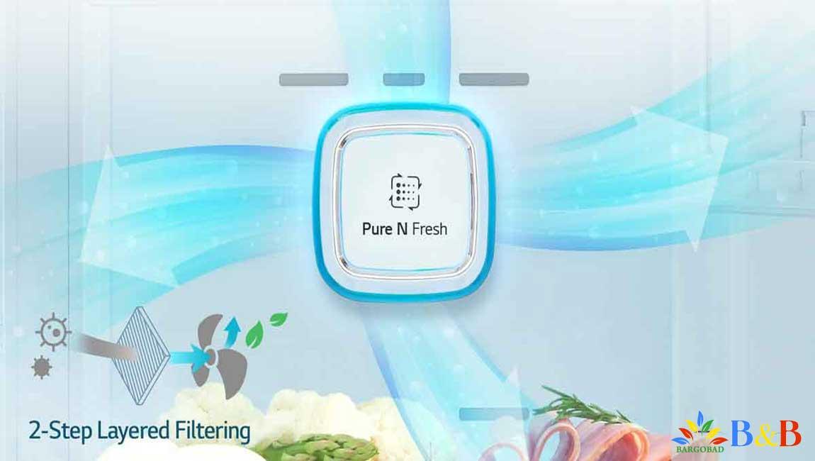 فیلتر بهداشتی چند لایه در یخچال ال جی X33