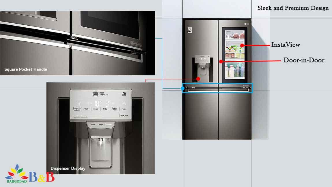 طراحی یخچال فریزر ال جیX334