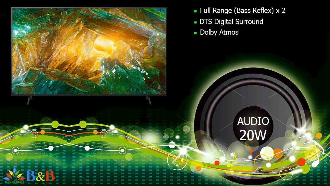 سیستم صوتی در X8000H