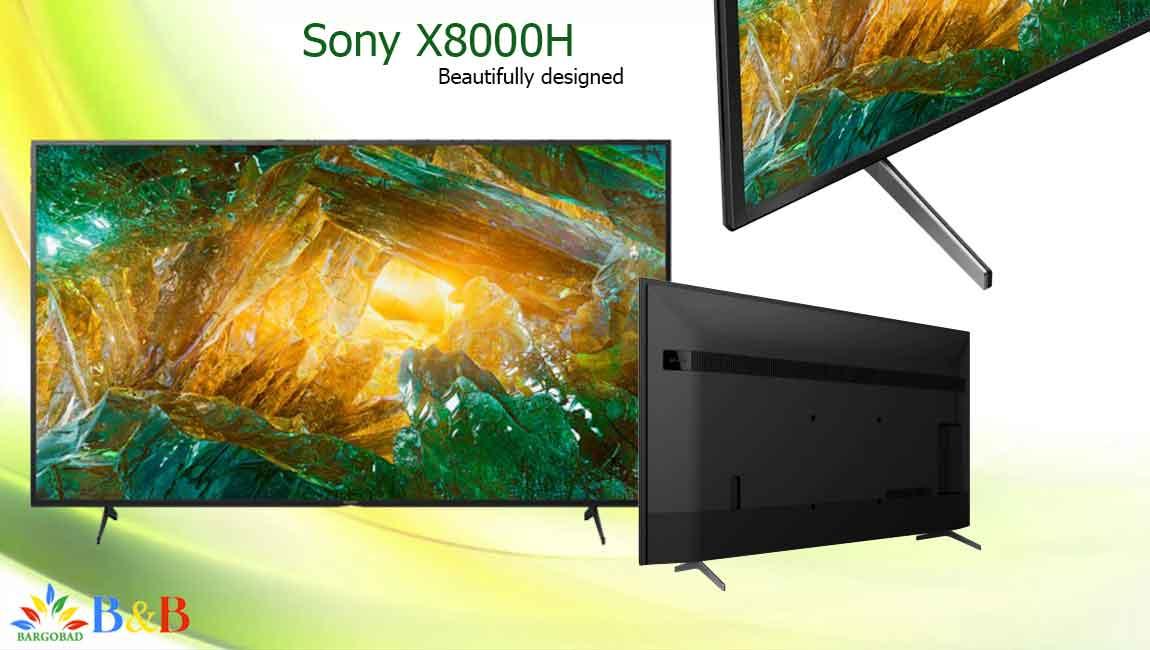 طراحی تلویزیون سونی X8000H