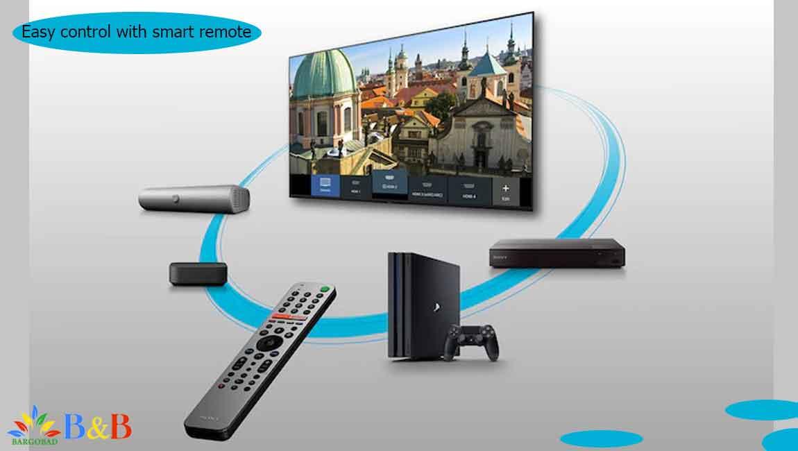 ریموت کنترل تلویزیون X9000H سونی