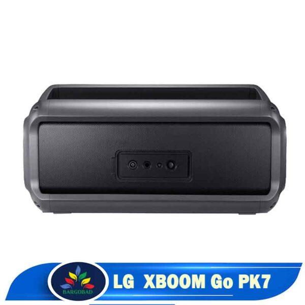 پشت اسپیکر ال جی XBOOM Go PK7