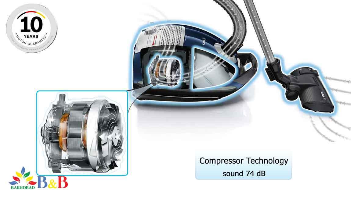 قدرت موتور جاروبرقی 8pro5