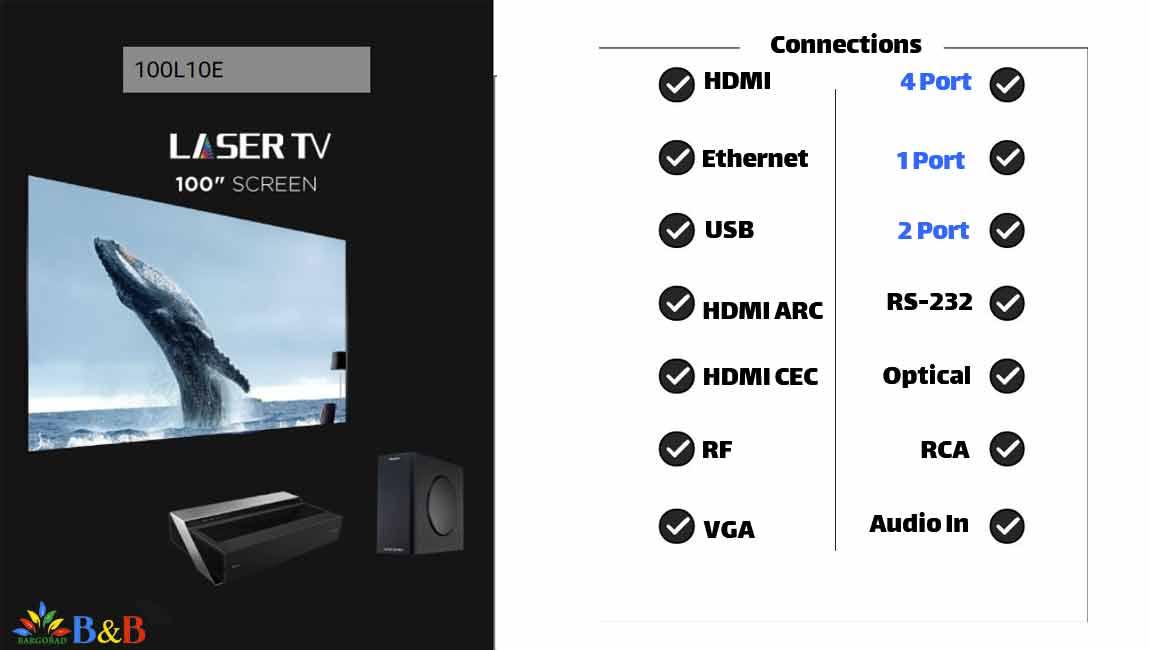 اتصالات تلویزیون لیزری هایسنس L10E