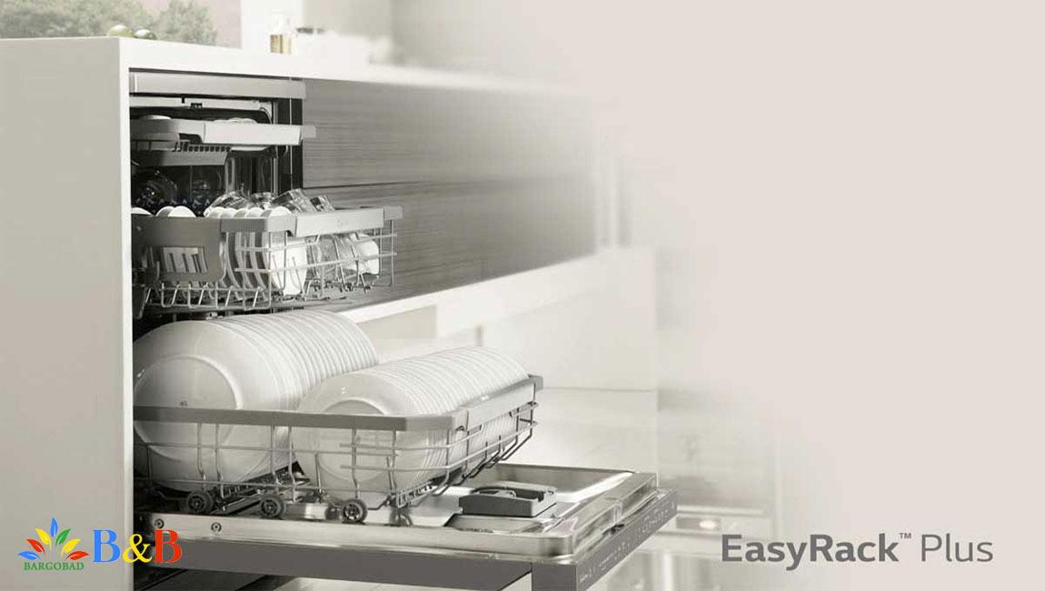 سبدهای انعطاف پذیر در ماشین ظرفشویی ال جی 325