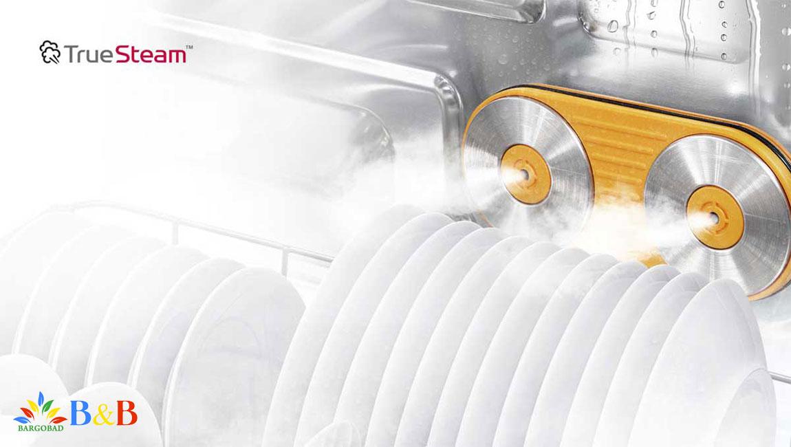 شستشو با بخار در ظرفشویی ال جی 325