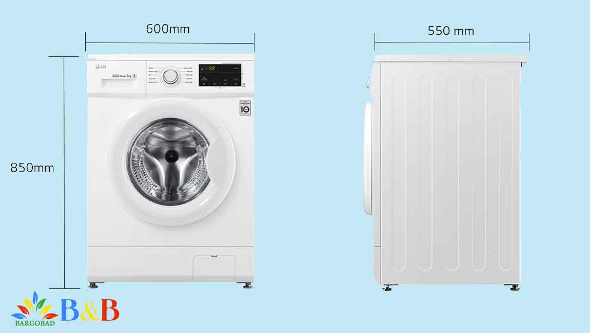 طراحی ماشین لباسشویی 7 کیلو ال جی J3