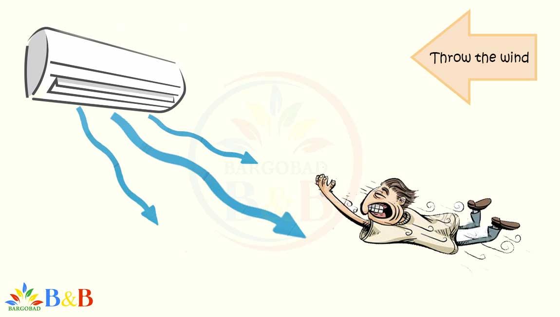 پرتاب باد کولر گازی 12000 گری LOMO