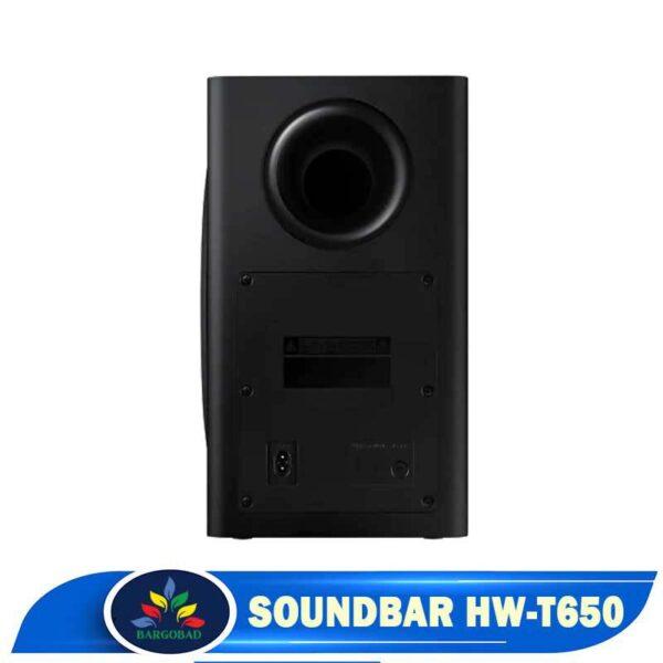 نمای سیستم صوتی ساندبار T650