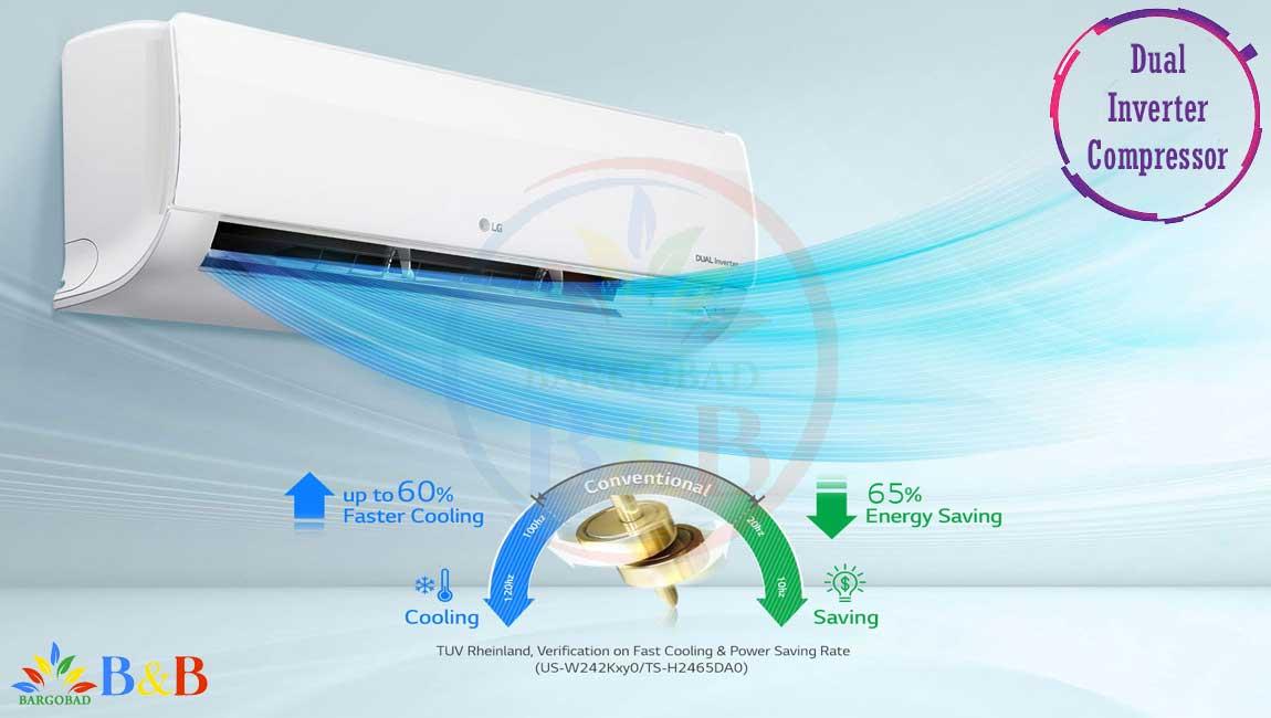 کولر گازی ال جی I CONTROL آی کنترل 26000 دوال اینورتر