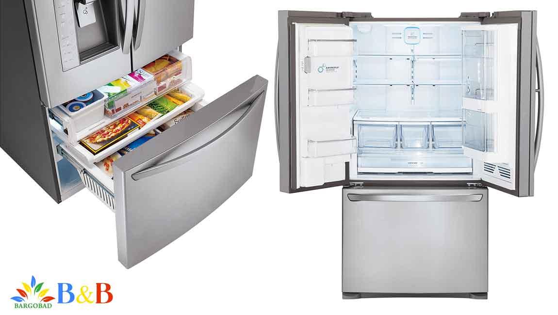 طراحی داخلی یخچال ال جی J338