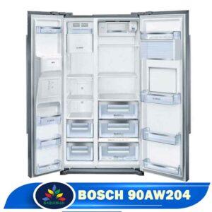 فضای داخل یخچال ساید بای ساید بوش 90AW204