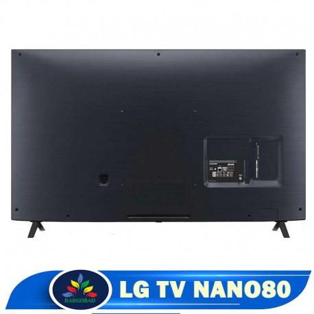 پشت تلویزیون 55 اینچ ال جی NANO80