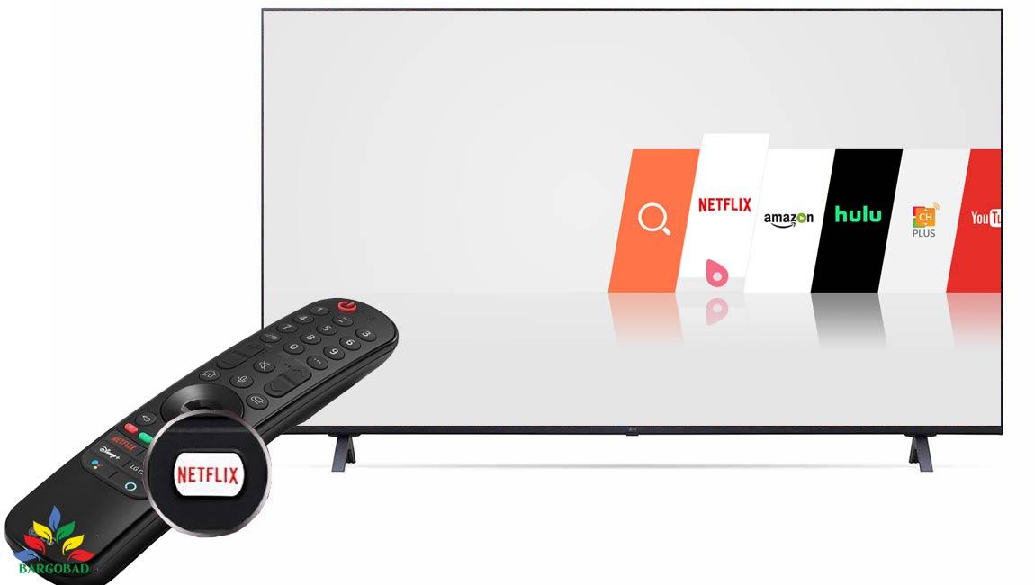 قابلیت نتفلیکس در تلویزیون ال جی UP8000