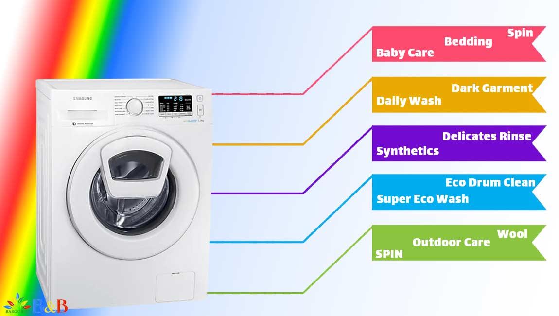 برنامه های ماشین لباسشویی سامسونگ ww70k