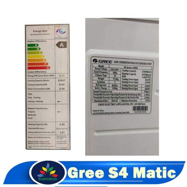 کولر گازی گری S4 Matic اسفورماتیک 18000