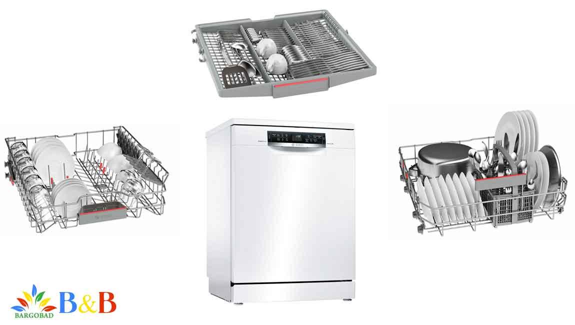 طراحی در ماشین ظرفشویی بوش sms67mw01b
