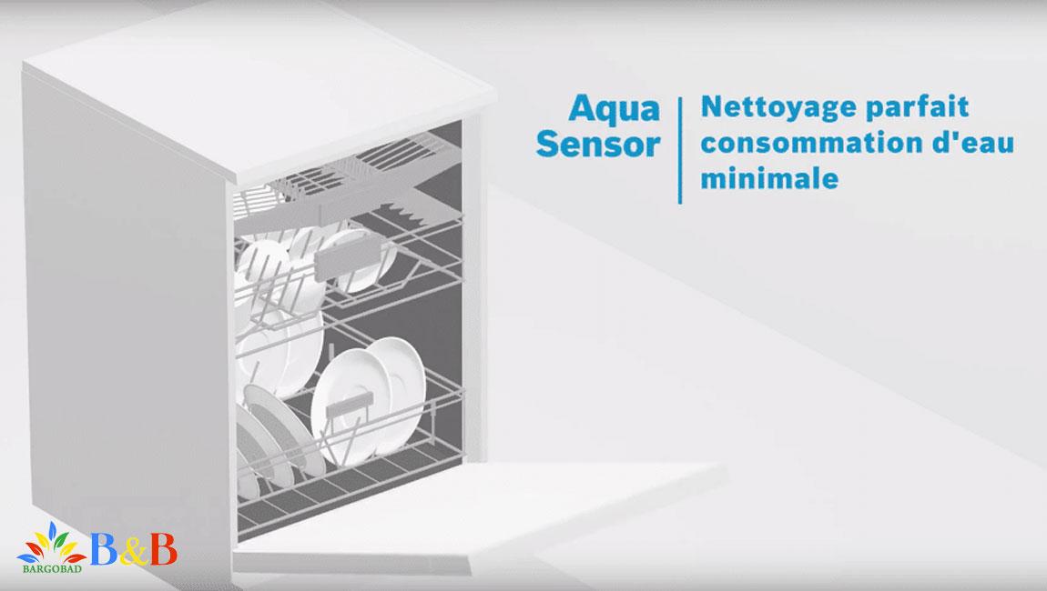 فناوری AquaSensor در ماشین ظرفشویی 14 نفره بوش 68MW02E