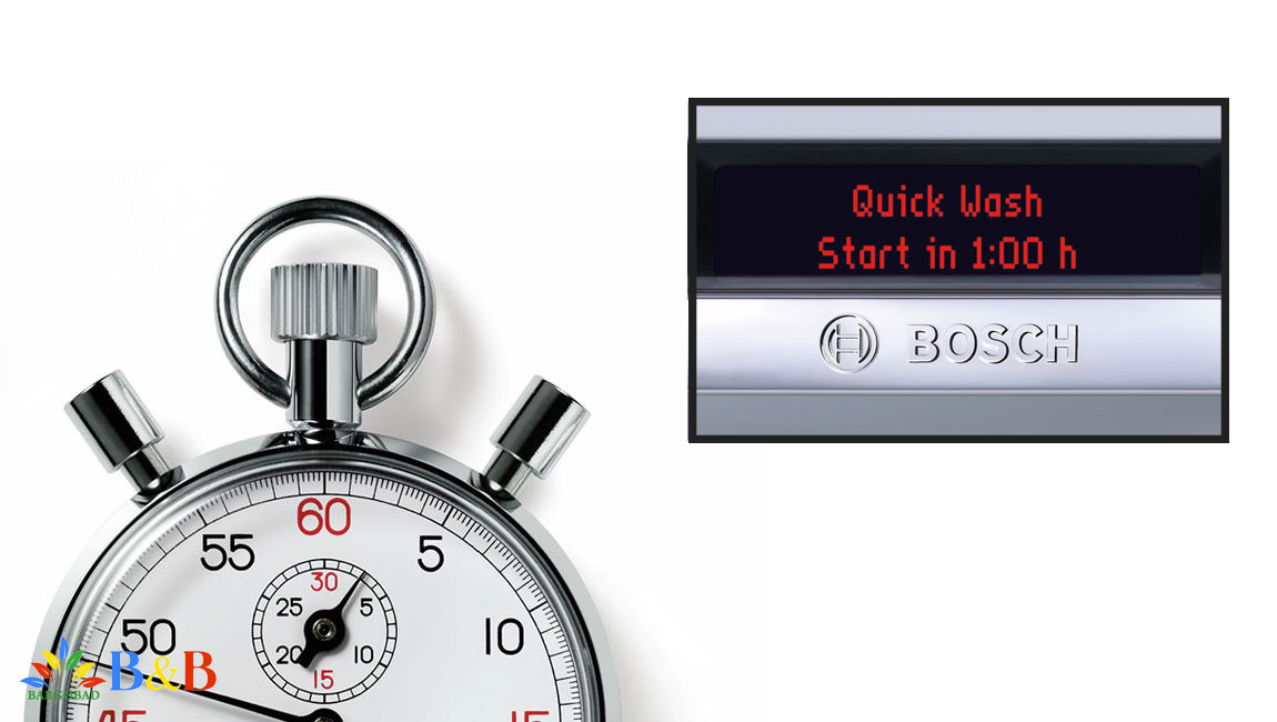 تابع شستشو با تاخیر در ماشین ظرفشویی 14 نفره بوش 68MW02E