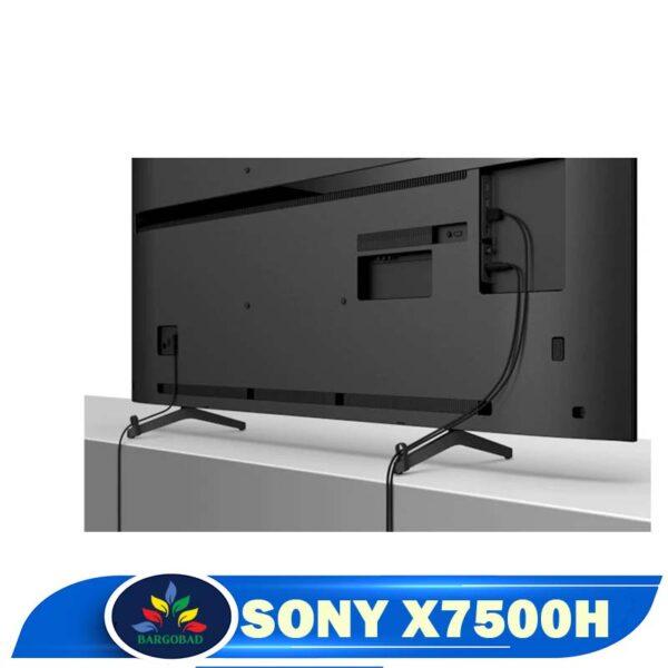 مدیریت کابل تلویزیون سونی x7500h