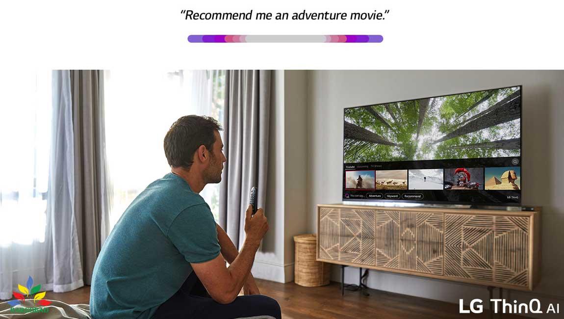 هوشمندی تلویزیون ال جی up8000