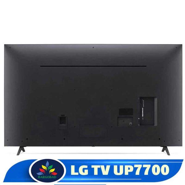 پشت تلویزیون ال جی UP7700