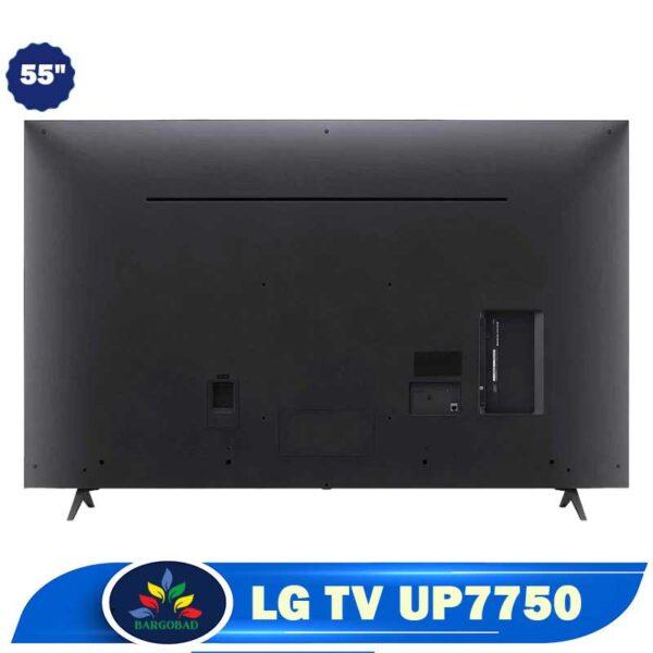 پشت تلویزیون ال جی UP7750