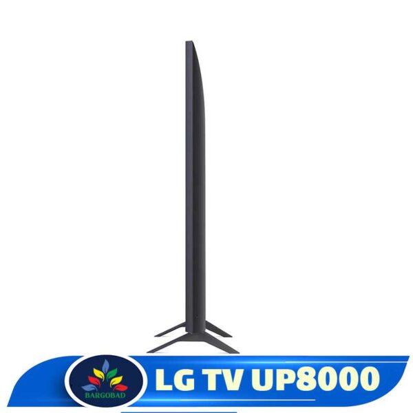 ضخامت تلویزیون ال جی UP8000