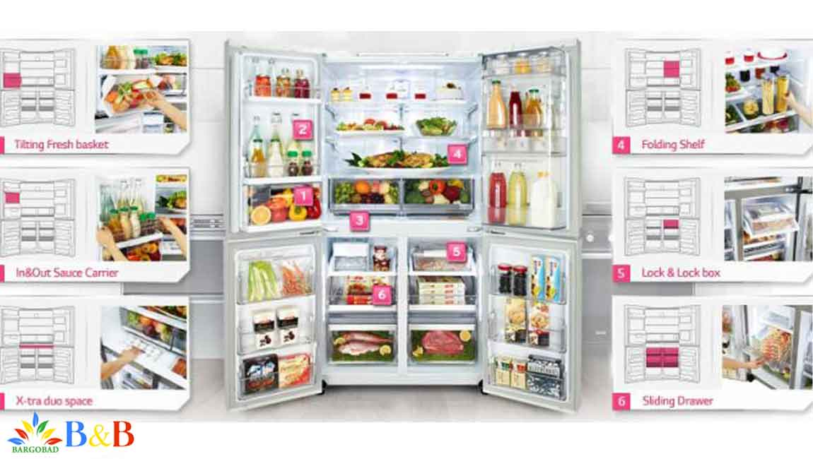 طراحی داخلی یخچال X29