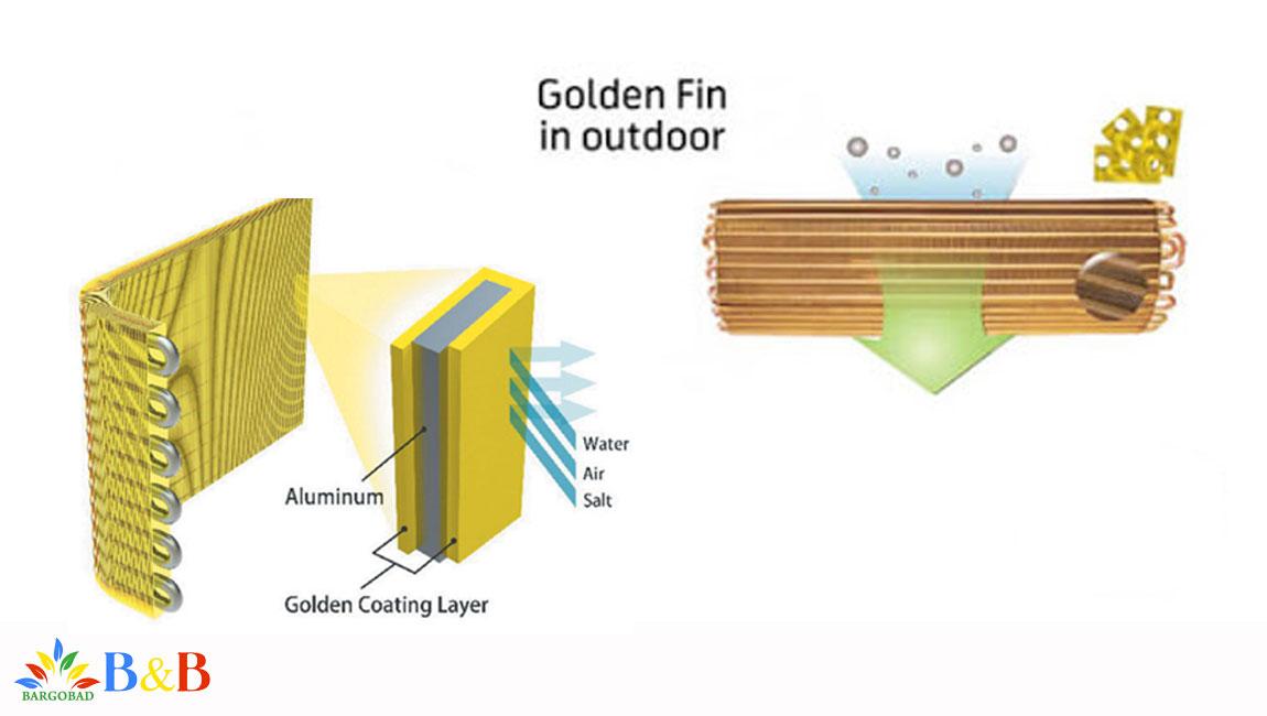 رادیات طلایی کولر گازی زانتی 24000
