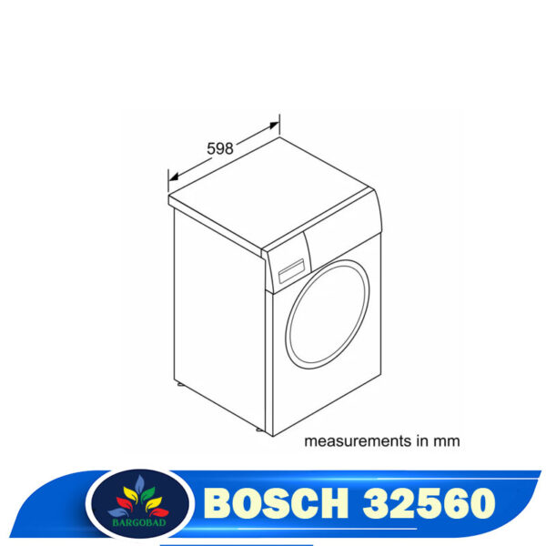ماشین لباسشویی 9 کیلو بوش WAW32560GC - 32560 سری 8