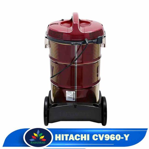 پشت نمای کناری جاروبرقی سطلی هیتاچی C960-Y