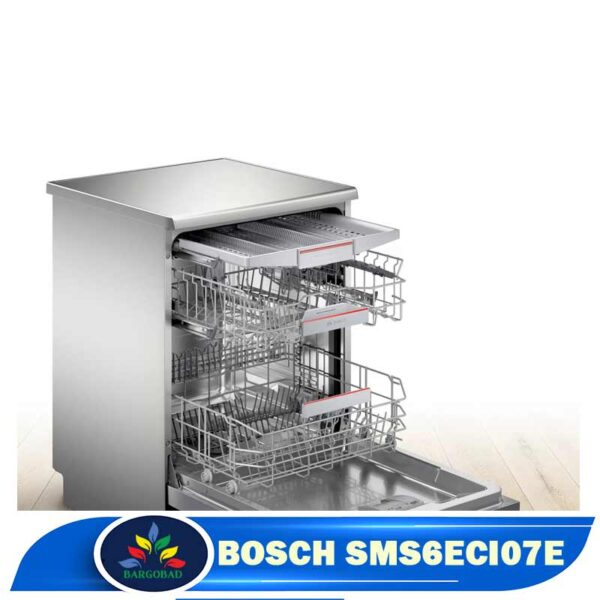 فضای داخلی ماشین ظرفشویی 14 نفره بوش 6ECI07E مدل SMS6ECI07E
