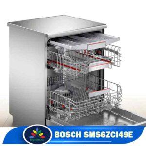 فضای داخلی ماشین ظرفشویی بوش 6ZCI49E