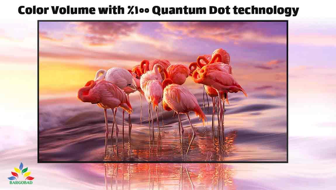 دامنه ی وسیع از رنگ ها در تلویزیون سامسونگ Q77A