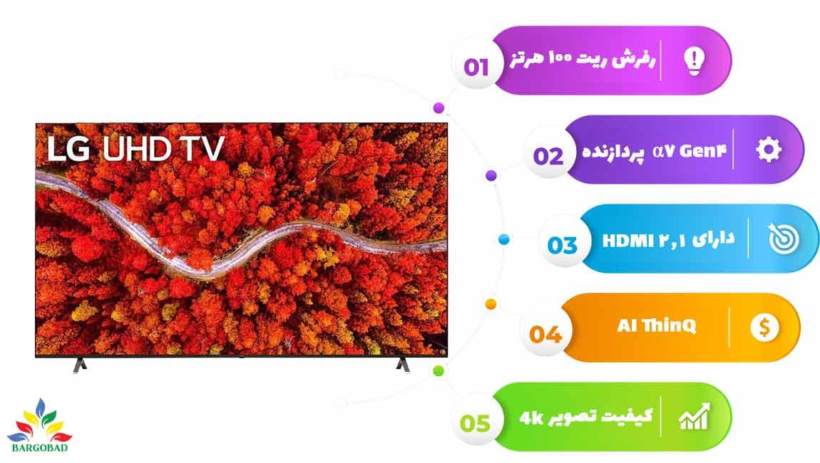 اینفوگرافی تلویزیون ال جی UP8050