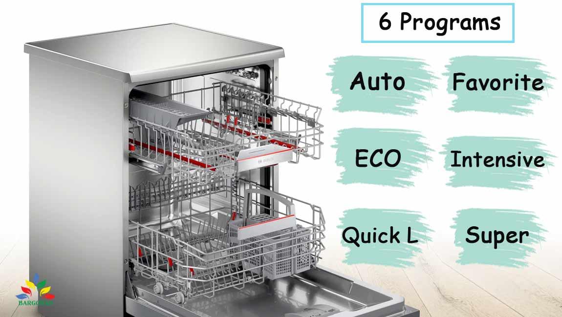 شستشوی ظروف با 6 برنامه منحصر به فرد در ظرفشویی 4HBI01D