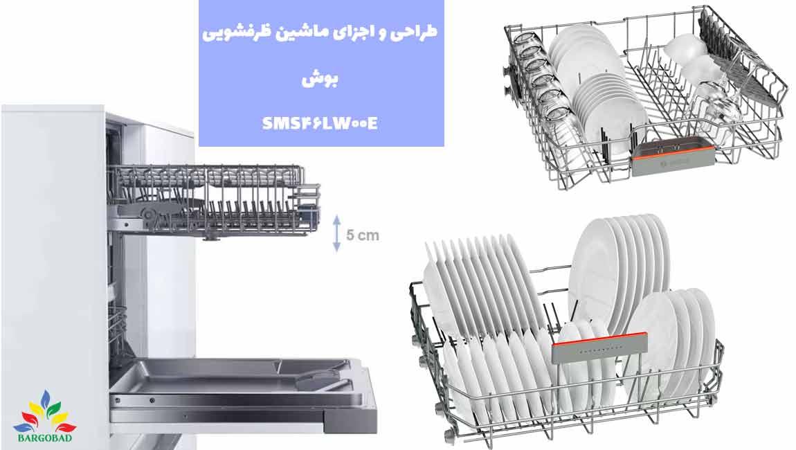 طراحی ماشین ظرفشویی بوش SMS46LW00E