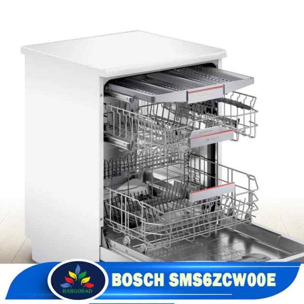 نمای داخلی ماشین ظرفشویی بوش 6ZCW00E